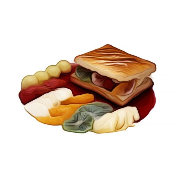 フィユタージュ・ショー・オ・フリュイ/温製フルーツパイ|アントルメ系統