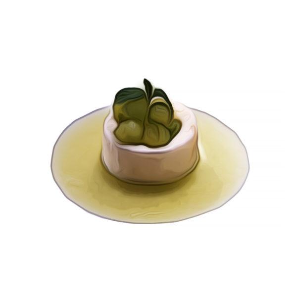 パイナップルシャーベット、メロン飾り|アイスクリームレシピ