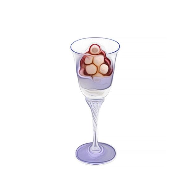 クープグラセ・バニラアイスとフルーツ詰め|アイスクリームレシピ