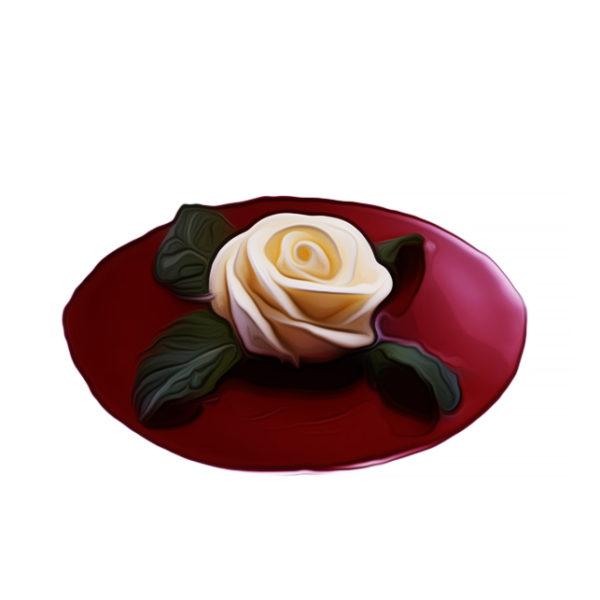 バラ花絞りアイスクリーム|アイスクリームレシピ