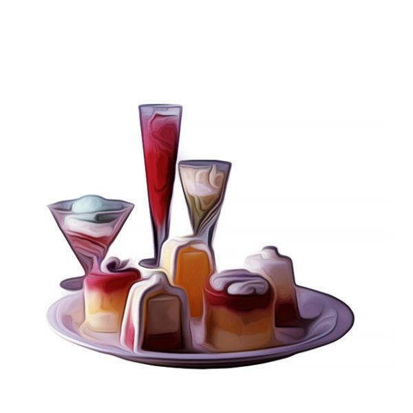 虹色氷菓、盛り合わせ|アイスクリームレシピ