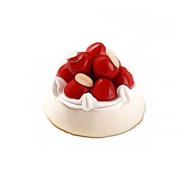 イチゴ飾りクリームチーズケーキ|クリームデザートレシピ