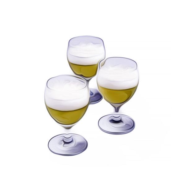 シャンパンゼリー|クリームゼリーレシピ