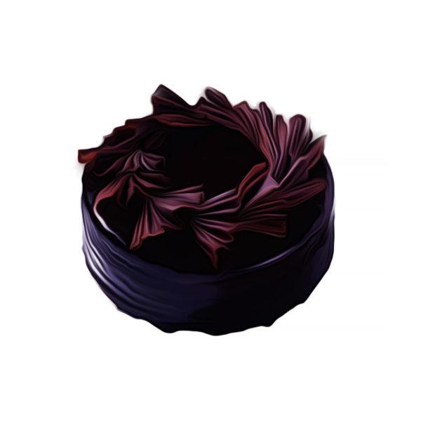 チョコレートケーキ、桂冠飾り チョコレートレシピ