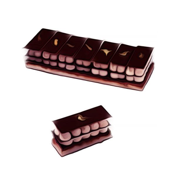 マロンクリーム・ミルフィーユ・ショコラ チョコレートレシピ