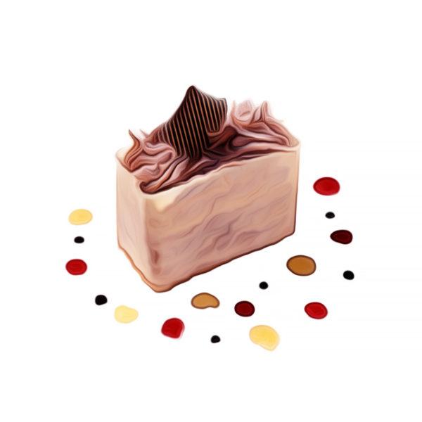 紅茶味チョコレートケーキ|チョコレートレシピ