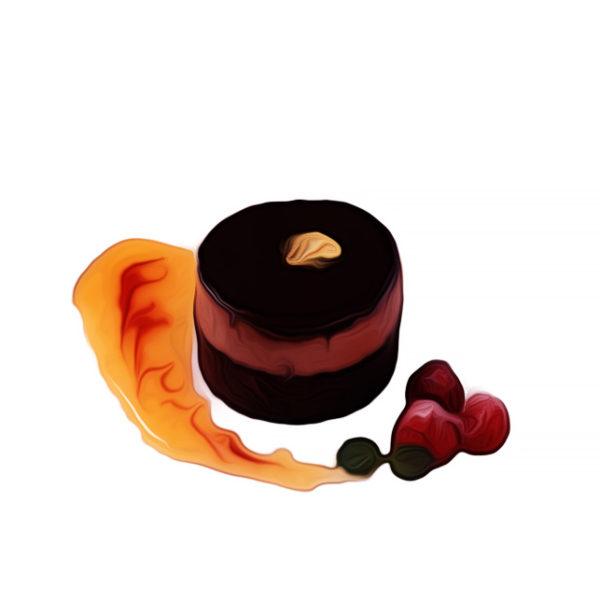 マカロン詰めチョコレートケーキ|チョコレートレシピ