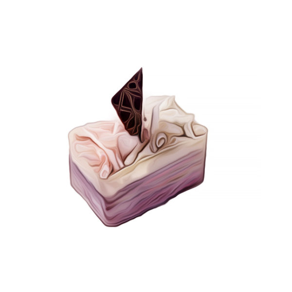 コアントロ・ローズ・ガナッシュケーキ|チョコレートレシピ