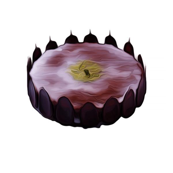 チョコレートクリームケーキ、北極の輝き|チョコレートレシピ
