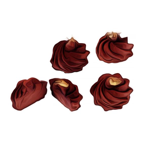 カラメルガナッシュ、バラ仕上げ|チョコレートレシピ